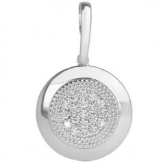 Серебряная подвеска-кулон с цирконием