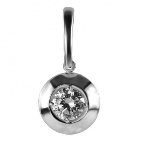 Серебряная подвеска-кулон с фианитом ПВ940с