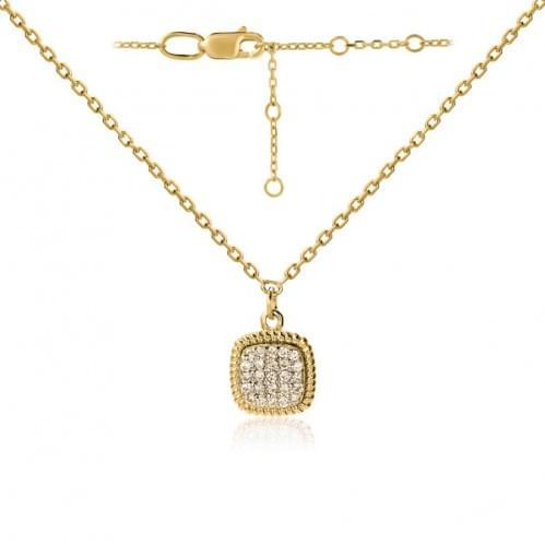 Колье из лимонного золота с бриллиантом ПК1300.00100Лн