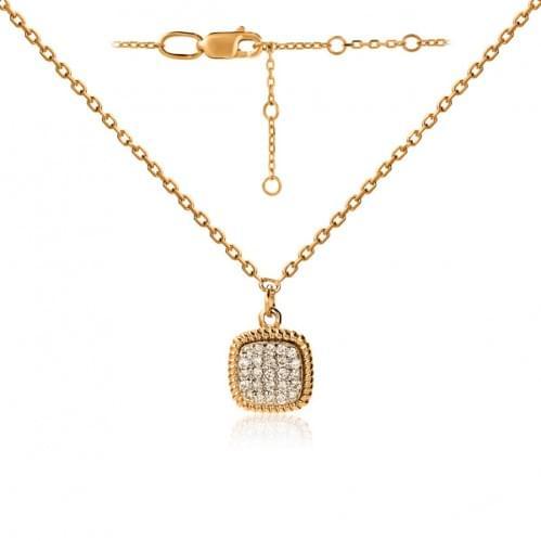 Золотое колье с бриллиантом  ПК1300.00100н