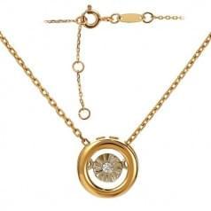 Золотое колье с бриллиантом