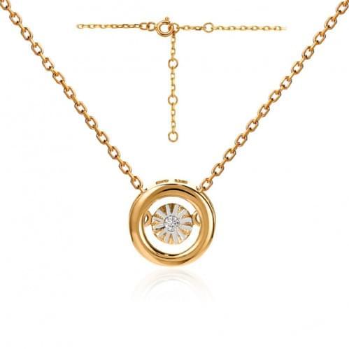 Золоте кольє з діамантом ПК1301.00100н