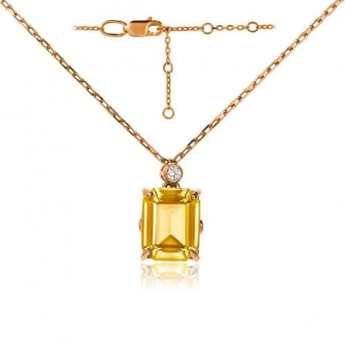 Золотое колье с нано султанитом ПК1363.16715н