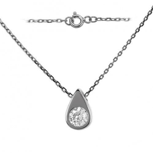 Женское украшение из серебра со вставкой