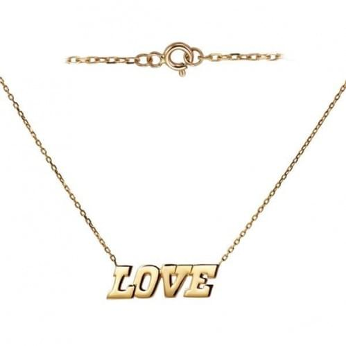 Украшение из красного золота Love