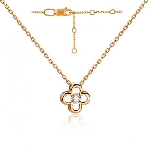 Золотое колье с бриллиантом ПК4872.00100н