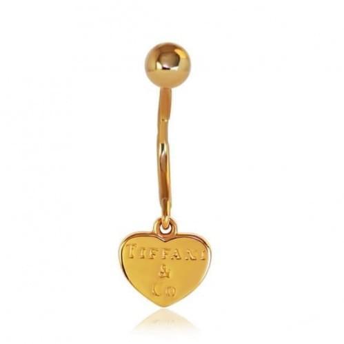 Золотой Пирсинг сердечко