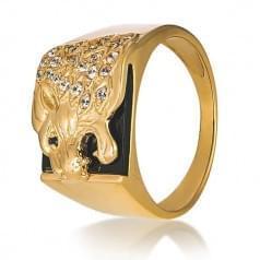Золотое кольцо с ониксом ПЧ009(2)и