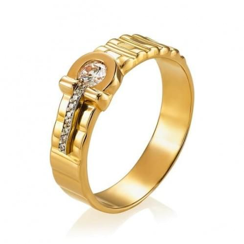 Золотое кольцо с фианитом ПЧ052и