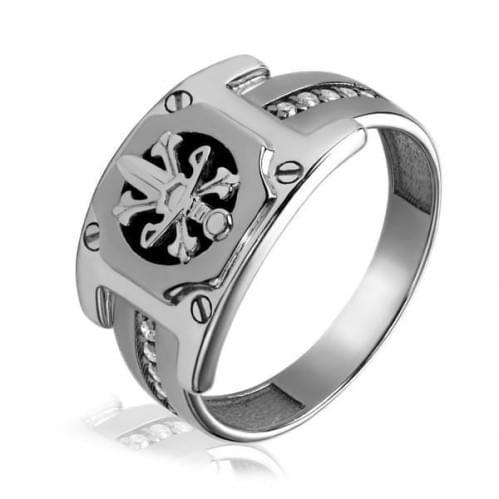 Срібний перстень з оніксом ПЧ056с
