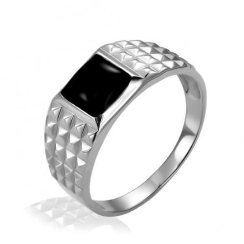 Серебряное кольцо с фианитом ПЧ058с