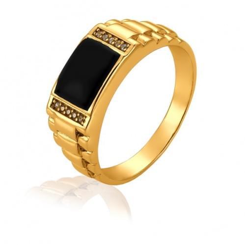 Золотое кольцо с фианитом ПЧ060и