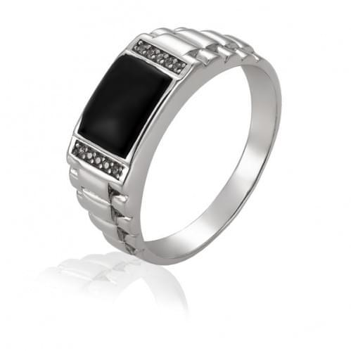 Серебряное кольцо с фианитом ПЧ060с