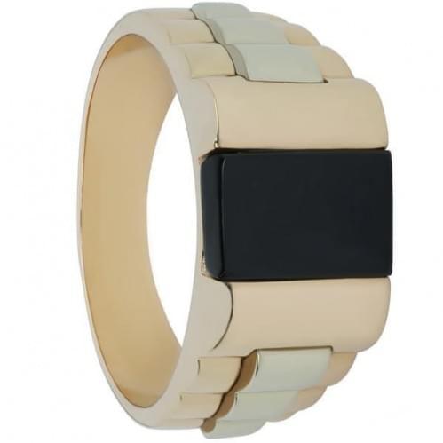 Золотое кольцо с ониксом ПЧ995и
