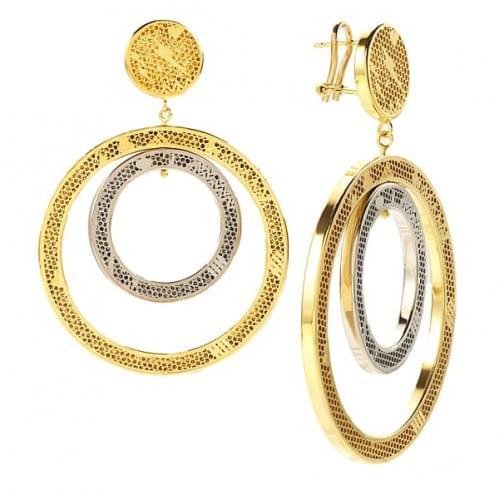 Серьги из лимонного золота (Флорентино - Collection Florentino) СБ0006Л