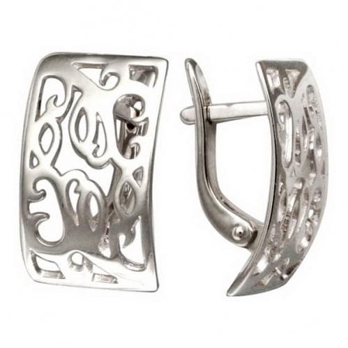 Серебряные серьги СБ037с
