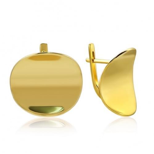 Серьги из лимонного золота СБ047Ли