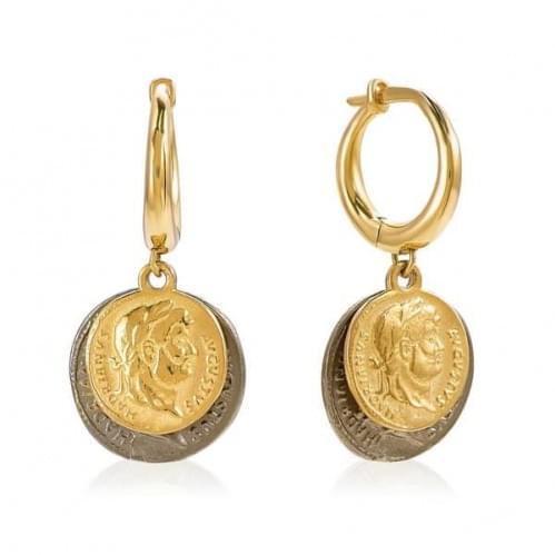 Серьги из лимонного золота (Флорентино - Collection Florentino) СБ1204-1Л(к)