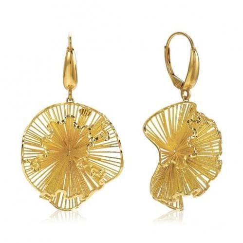 Серьги из лимонного золота (Флорентино - Collection Florentino) СБ1205Л(к)