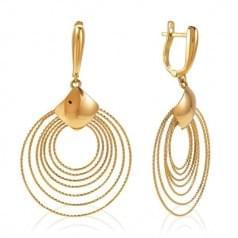 Сережки красное золото (Флорентино - Collection Florentino)