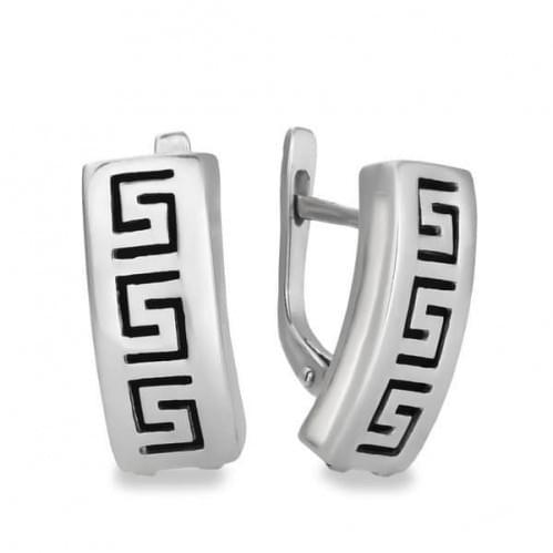 Серебряные серьги с фианитом СБ297с
