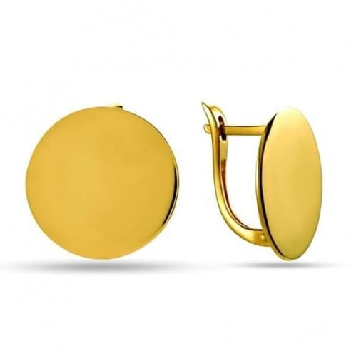 Сережки з лимонного золота СБ304Ли