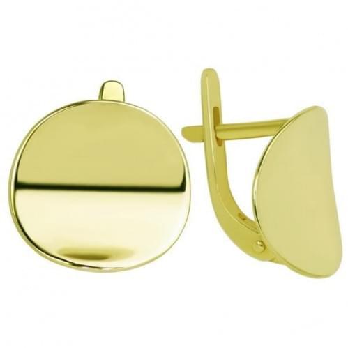 Серьги из лимонного золота СБ312Ли