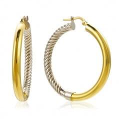 Серьги-кольца комбинированное золото (Флорентино - Collection Florentino)