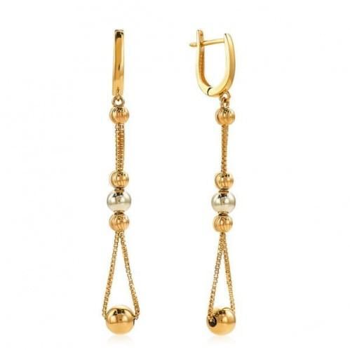 Золотые серьги длинные (Флорентино - Collection Florentino) СБ481к