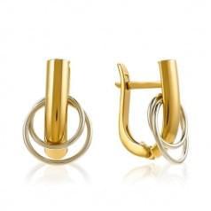 Сережки комбинированное золото (Флорентино - Collection Florentino)