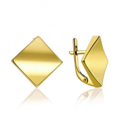 Сережки з лимонного золота СБ779Ли