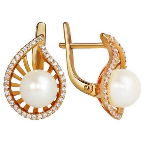 Золоті сережки з перлами СВ1088и
