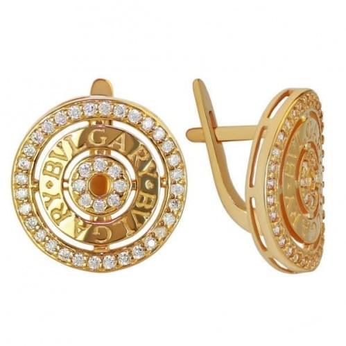 Золоті сережки з фіанітом СВ1090и