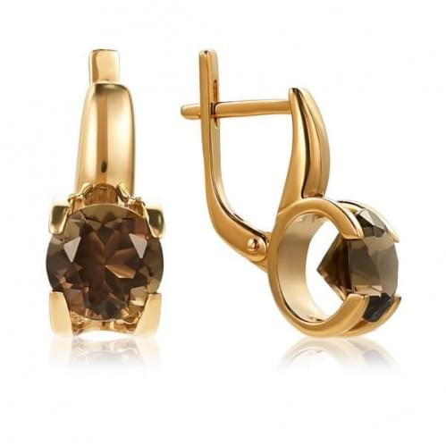 Золоті сережки з топазом СВ1113.12011н