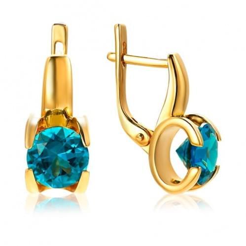 Золоті сережки з нано каменем СВ1113.17301н
