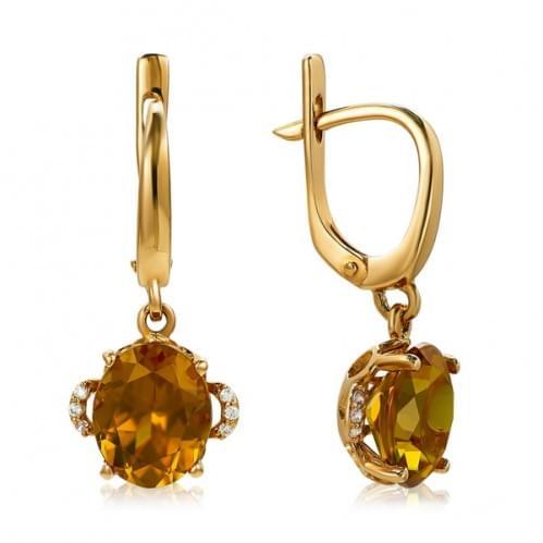 Золоті сережки з нано султанітом СВ1114.16715н