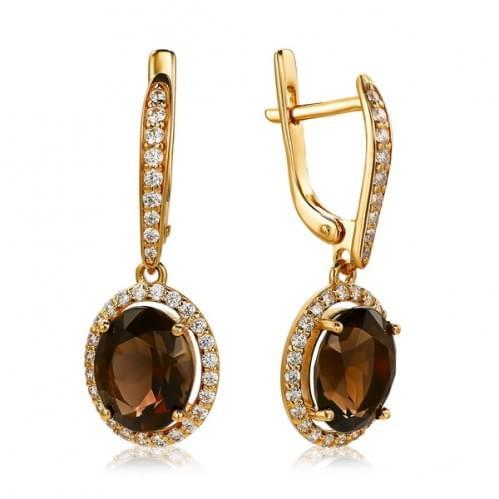 Золоті сережки з топазом СВ1146.12011н