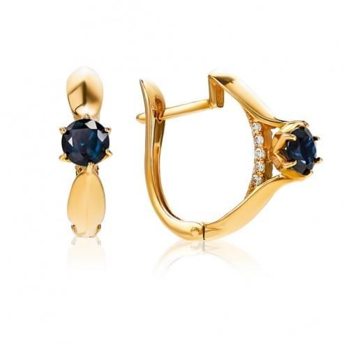 Золоті сережки з сапфіром СВ1158.00302н