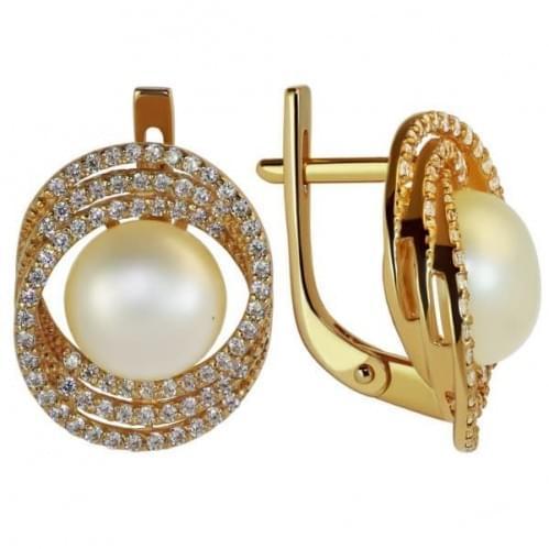 Золоті сережки з перлами СВ1159и