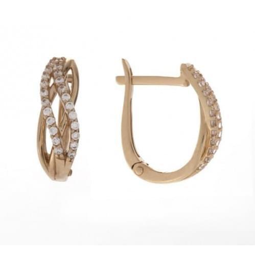Золоті сережки з фіанітом СВ1168и