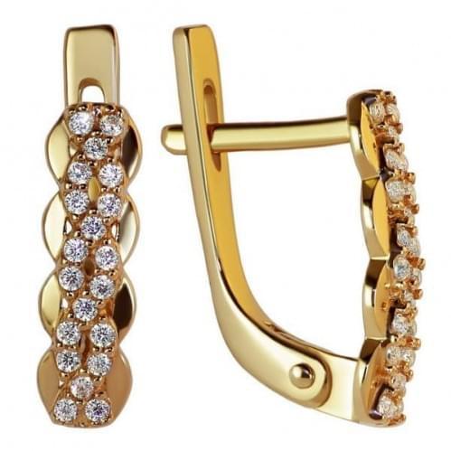 Золоті сережки з фіанітом СВ1169и