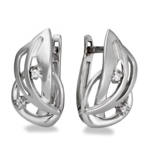 Срібні сережки з фіанітом СВ1185с