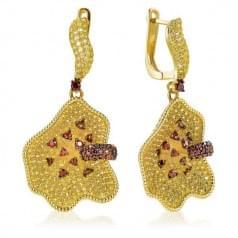 Серьги с цитрином в лимонном золоте (Флорентино - Collection Florentino)
