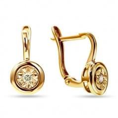 Сережки из красного золота Бриллиант СВ1231н