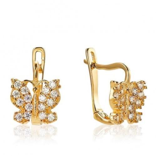Золоті сережки з фіанітами СВ1263к