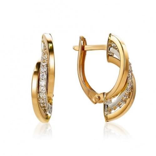 Золоті сережки з фіанітами СВ1283к