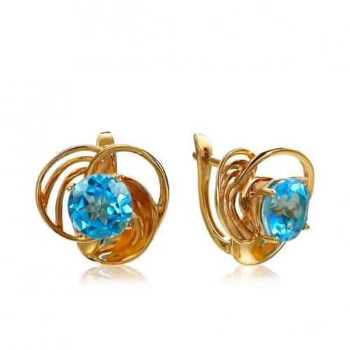 Золоті сережки з топазом СВ1355.12101н