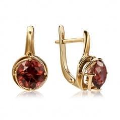 Золоті сережки з нано каменем