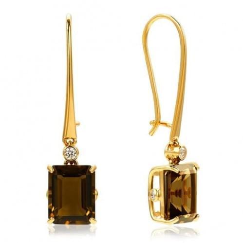 Золотые серьги с топазом СВ1363.12011н