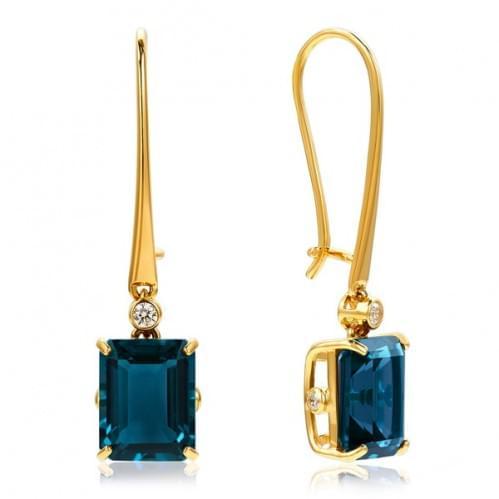 Золотые серьги с топазом СВ1363.12201н